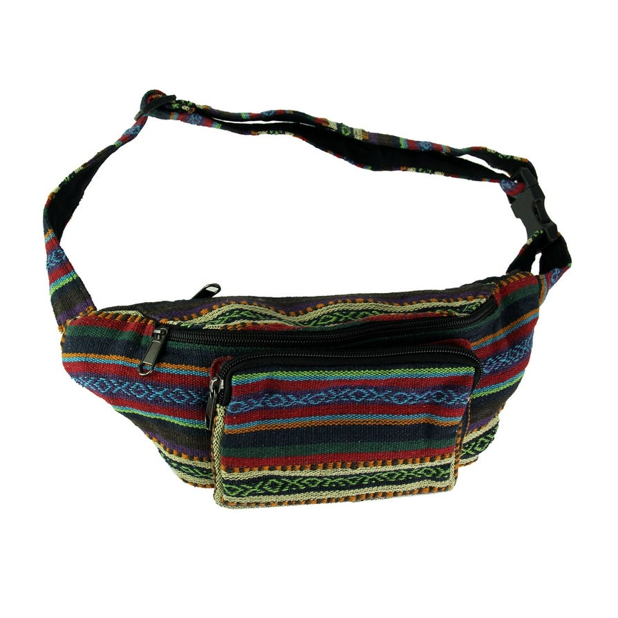 7a9b8957402 Shop Boho Festival Tribal Stripe Cotton waist Pack - On Sale - Free  Shipping On Orders Over  45 - Overstock.com - 21894721