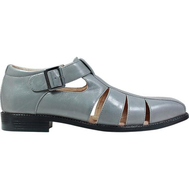 8287fd62db00 Shop Stacy Adams Men s Calisto Fisherman Sandal 25112 Grey Synthetic - Free  Shipping Today - Overstock - 19891730