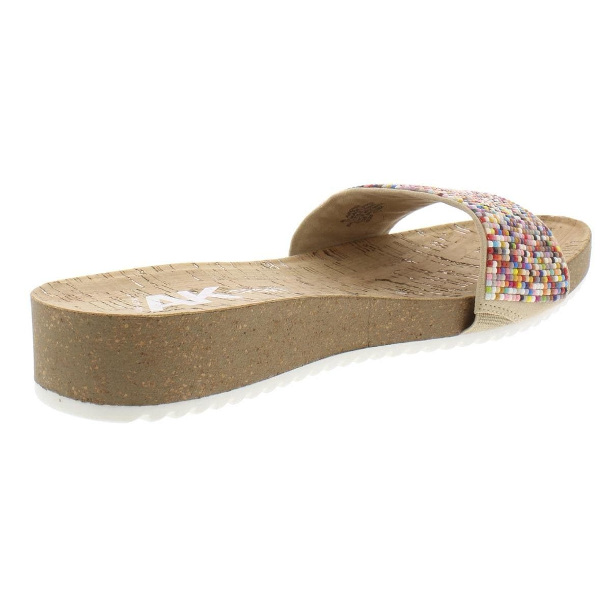 0c7c0dd00293 Shop Anne Klein Sport Womens Qtee Wedge Sandals Beaded Slide - Free  Shipping On Orders Over  45 - Overstock - 27619876