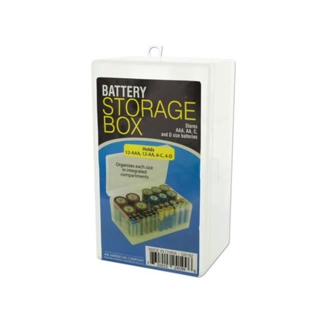 Shop Kole Imports GR182 24 Battery Storage Box   Pack Of 24   Free Shipping  Today   Overstock.com   23335435