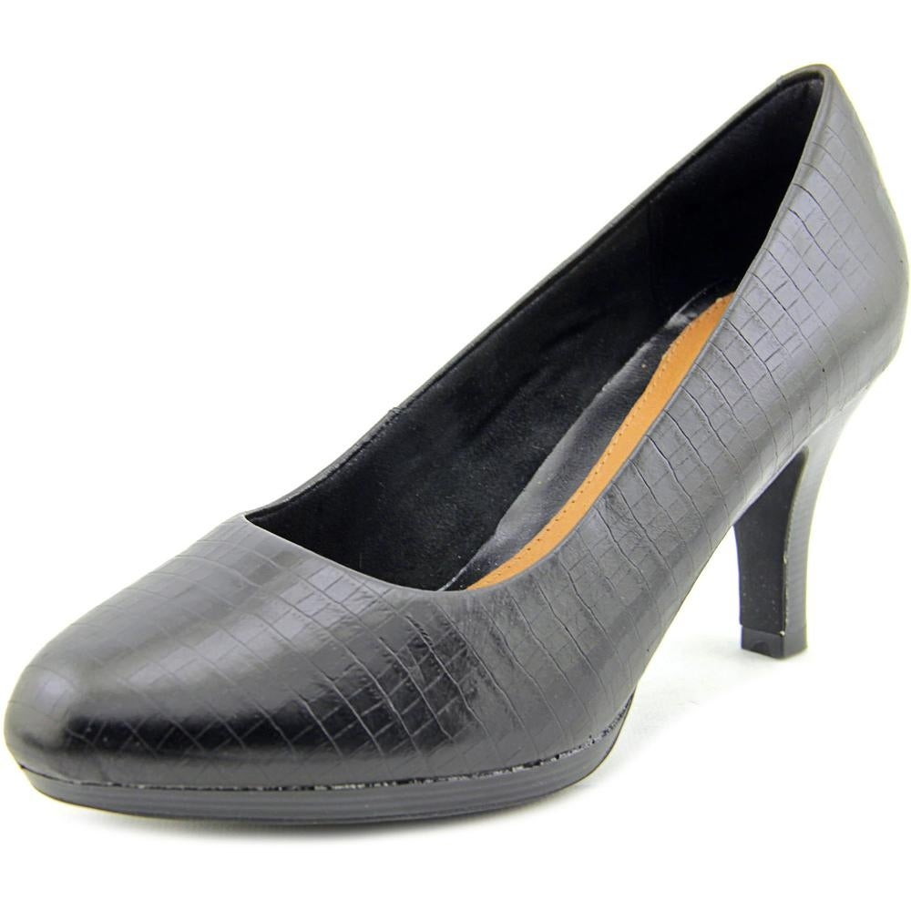 Shop Clarks Narrative Tempt Appeal Women Round Toe Leather Black Heels -  Free Shipping On Orders Over $45 - Overstock.com - 14553948