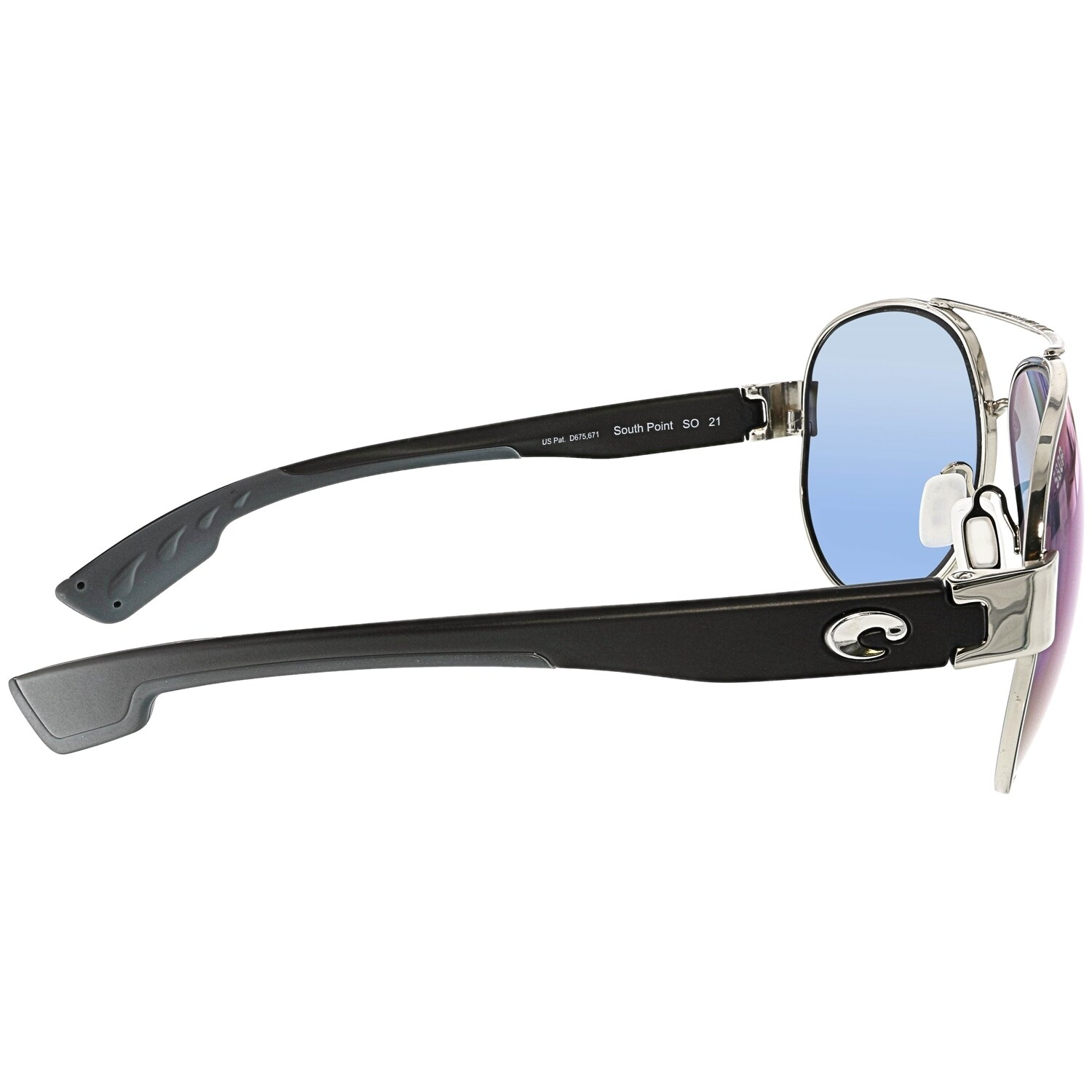 d86f6ccbb Shop Costa Del Mar Mirrored South Point SO21OBMP Black Aviator Sunglasses -  Free Shipping Today - Overstock - 18900277