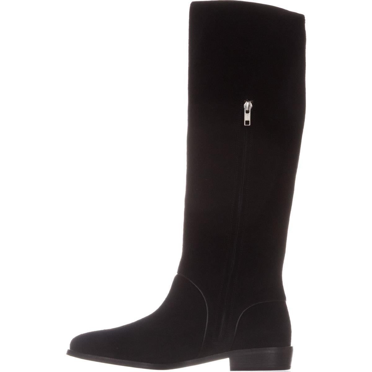 Shop UGG Australia Gracen Mid-Calf Riding Boots, Black Suede - Free Shipping Today - Overstock.com - 19205921
