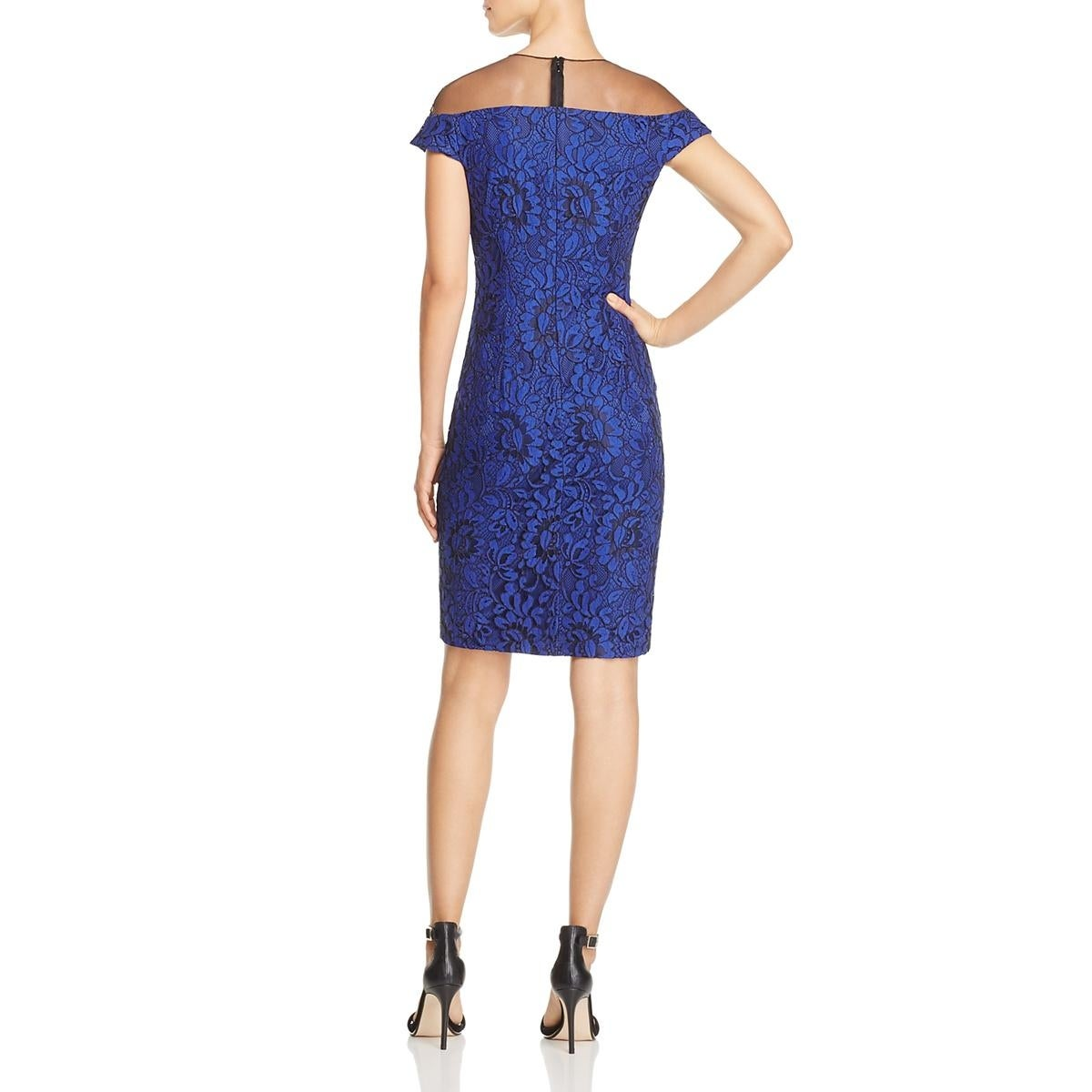dd52dbe6a3 Carmen Marc Valvo Womens Semi-Formal Dress Lace Beaded - 8 - Free Shipping  Today - Overstock - 28141592