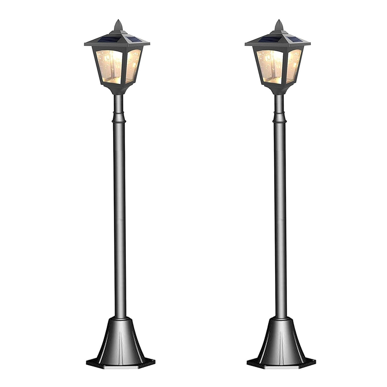 shop kanstar pack of 2 solar powered 42 outdoor vintage mini street
