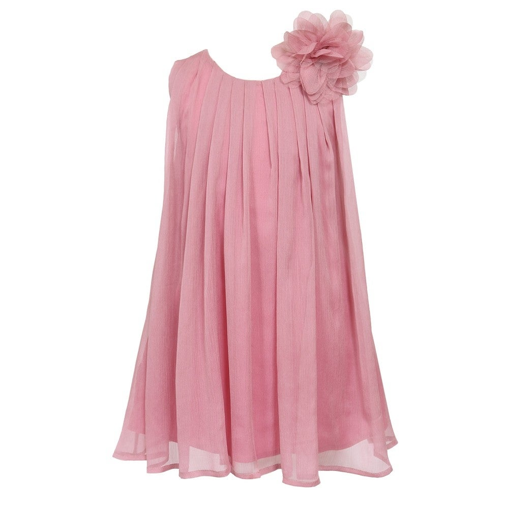 Shop Little Girls Dusty Rose Pretty Chiffon Flower Girl Dress 2t 6