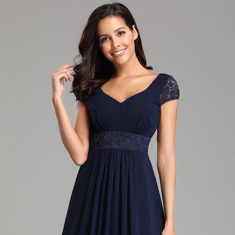 3ec86524ab233 Ever-Pretty Womens Lace Chiffon Navy Blue Long Evening Party Prom  Bridesmaid Maxi Dress 07673