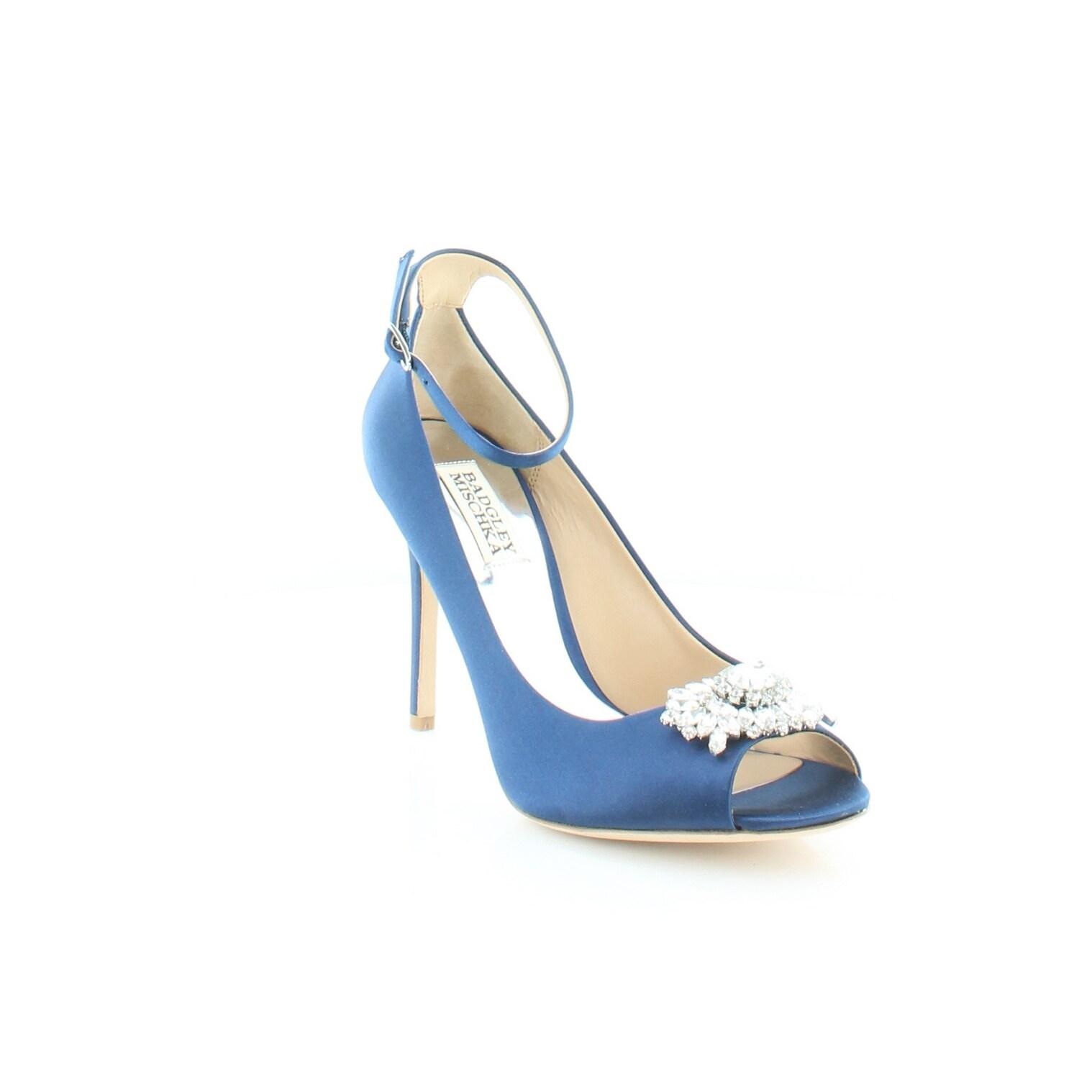 223a4643ea6 Shop Badgley Mischka Kali Women s Heels Navy - Free Shipping Today -  Overstock - 21690266