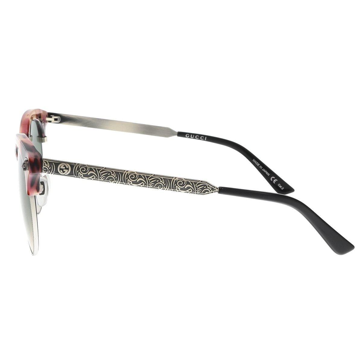 30c973e4893 Shop GUCCI GG0222SK 005 Rose Silver Cat Eye Sunglasses - Free Shipping  Today - Overstock - 19421933