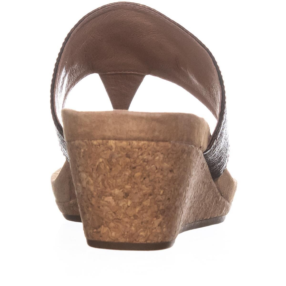 4b00af84664 UGG Briella Wedge Thong Sandals, Pony Brown - 8.5 US / 39.5 EU