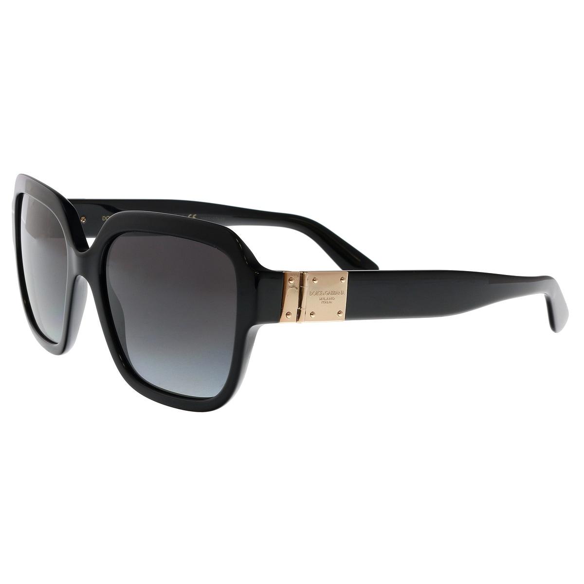 da6b43a20d35 Shop Dolce   Gabbana DG4336 501 8G Black Square Sunglasses - 56-18 ...
