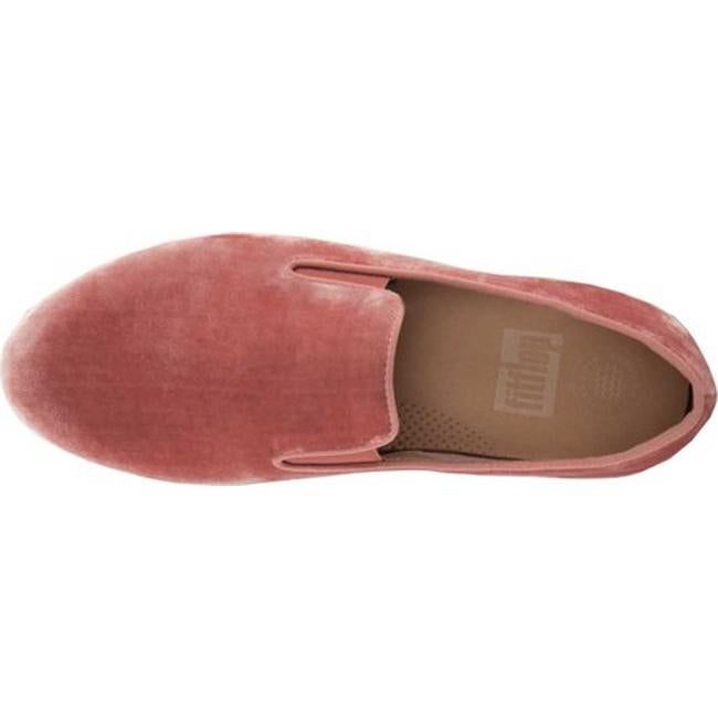 e14c1579a078 Shop FitFlop Women s Superskate Loafer Nude Velvet - Free Shipping Today -  Overstock.com - 21153034