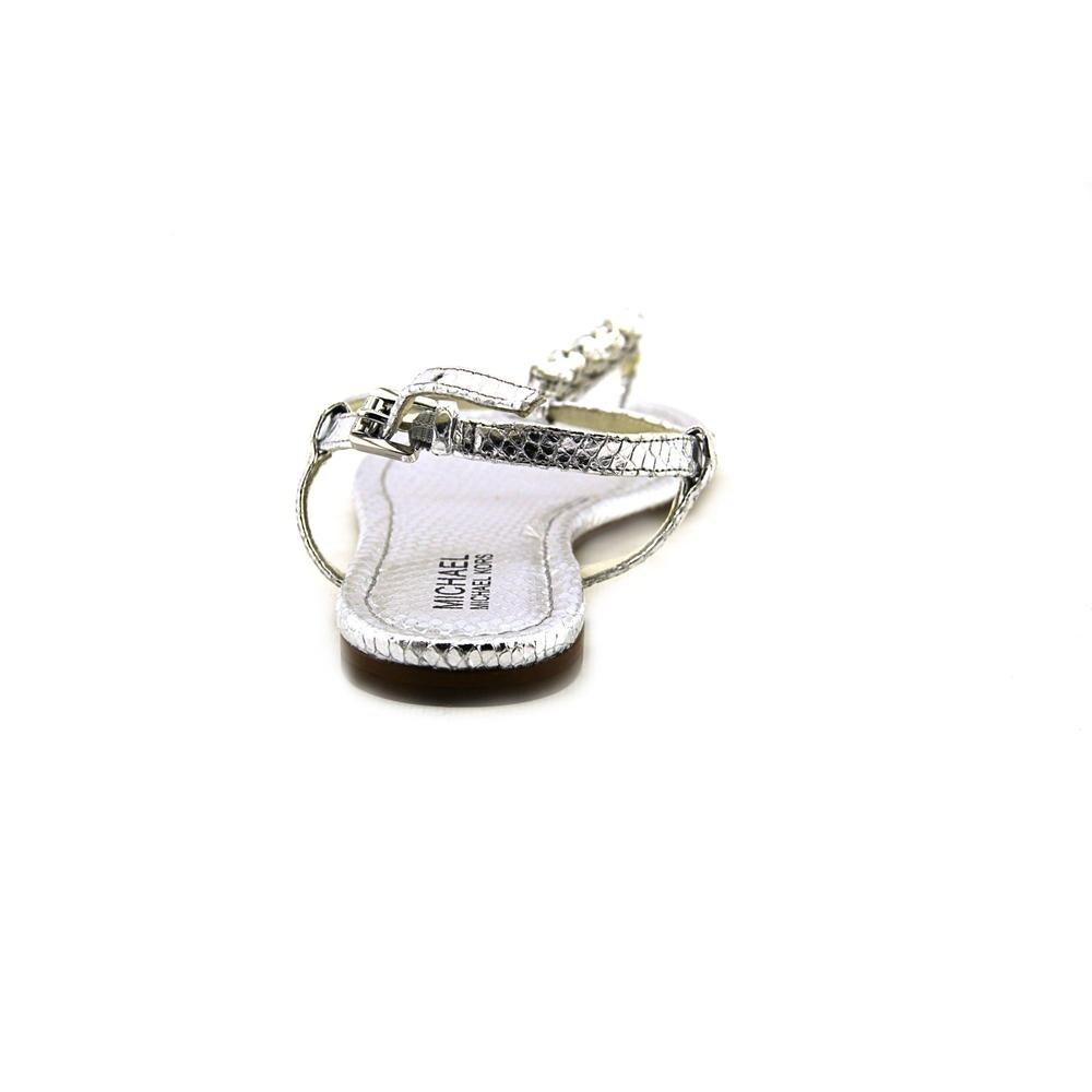 70073fc8d Shop Michael Michael Kors Jayden Flat Silver Sandals - Ships To Canada -  Overstock - 13566817