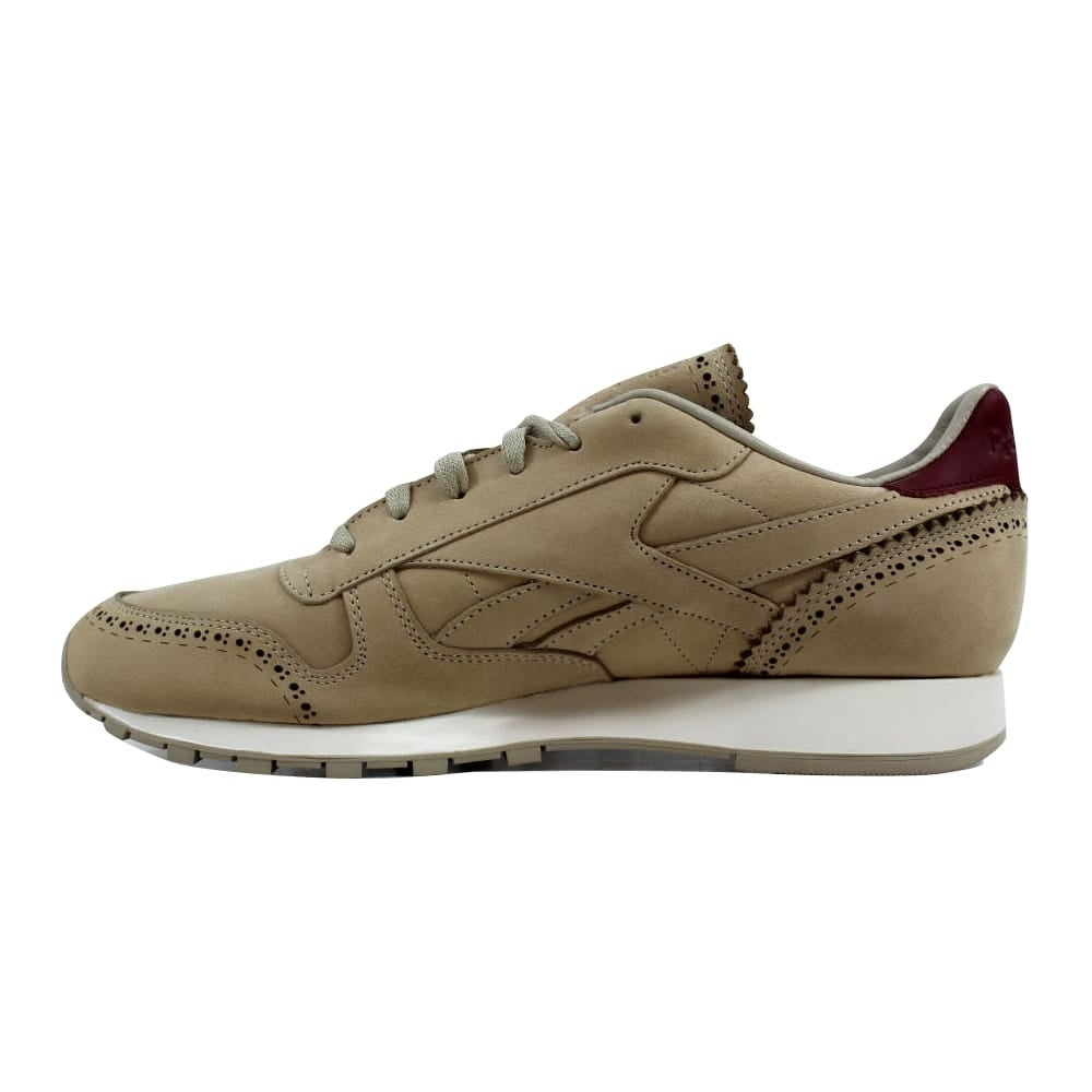 1150e54d3a4a4 Shop Reebok Classic Leather Lux Horween Sandstone Merlot-Chalk AQ9963 Men s  - Free Shipping Today - Overstock - 27340002