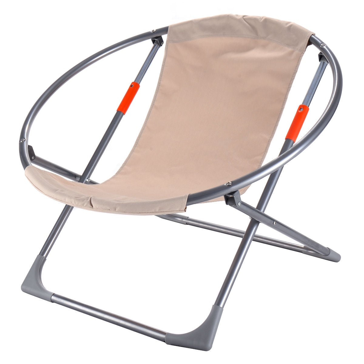 Shop Costway Oversized Large Folding Saucer Moon Chair Round Seat ...