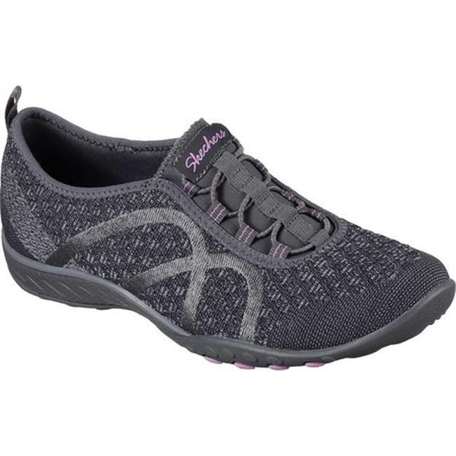 Shop Skechers Women s Relaxed Fit Breathe Easy Fortune-Knit Slip-On ... 648ee0967
