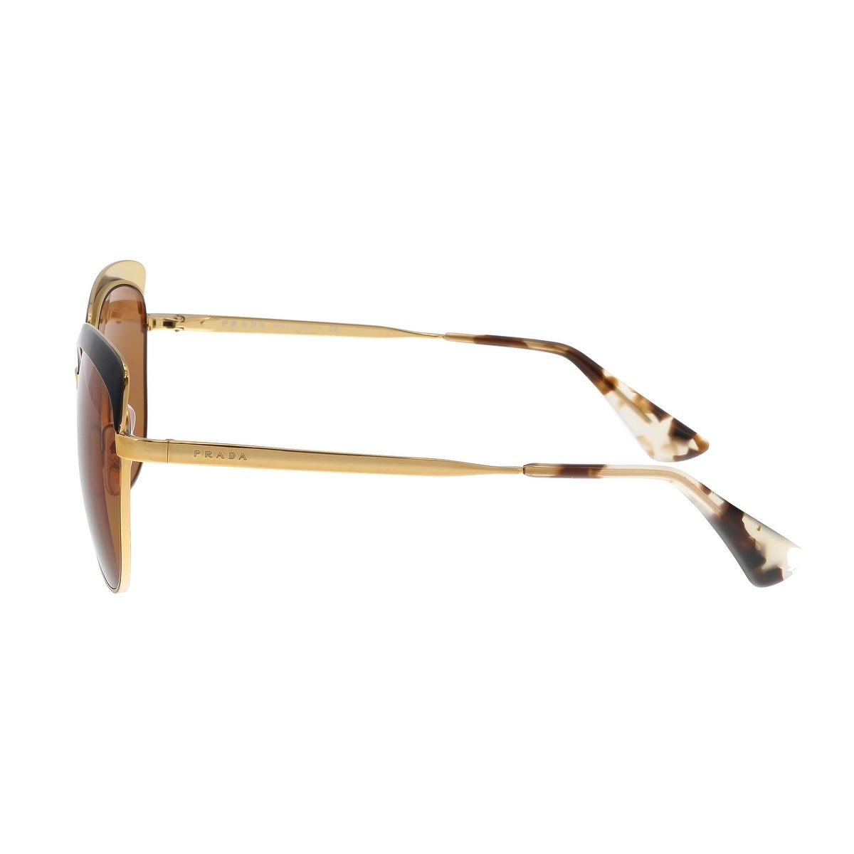 88bff52655 Shop Prada PR 51TS LAX6N0 Antique Gold Black Square Sunglasses - 56-17-140  - Free Shipping Today - Overstock - 18182564