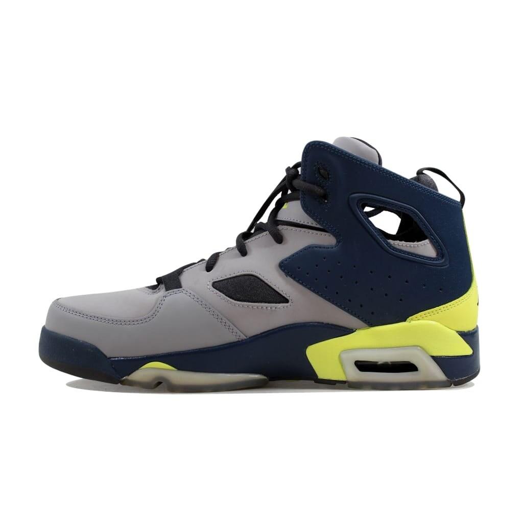 72906457ea84 Shop Nike Men s Air Jordan Flight Club  91 Matte Silver Electric Yellow-Squadron  Blue555475-035 - Free Shipping Today - Overstock - 24016384