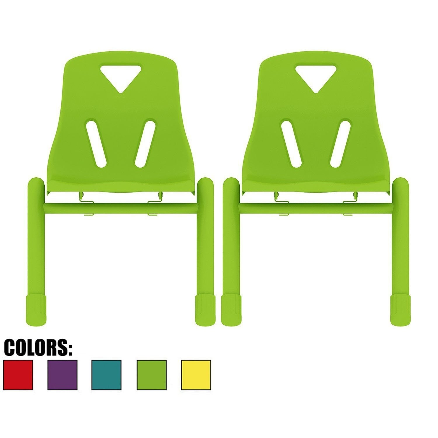 Shop 2xhome Set of 2 Colors Kids Chair Stackable Plastic Molded For ...