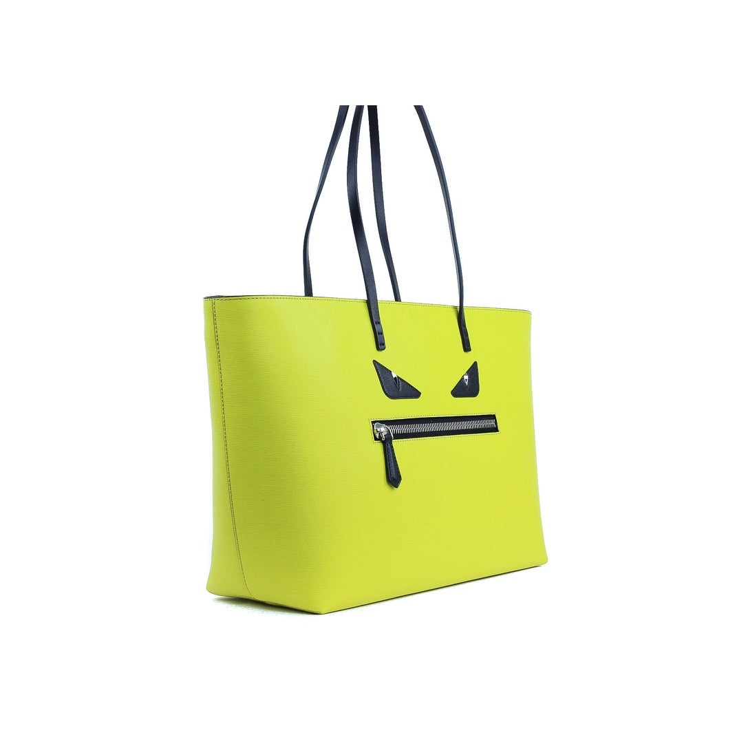 c7bee26c7697 Shop Fendi Monster Eyes Roll Big Yellow Leather Tote Bag - Free Shipping  Today - Overstock - 22050879