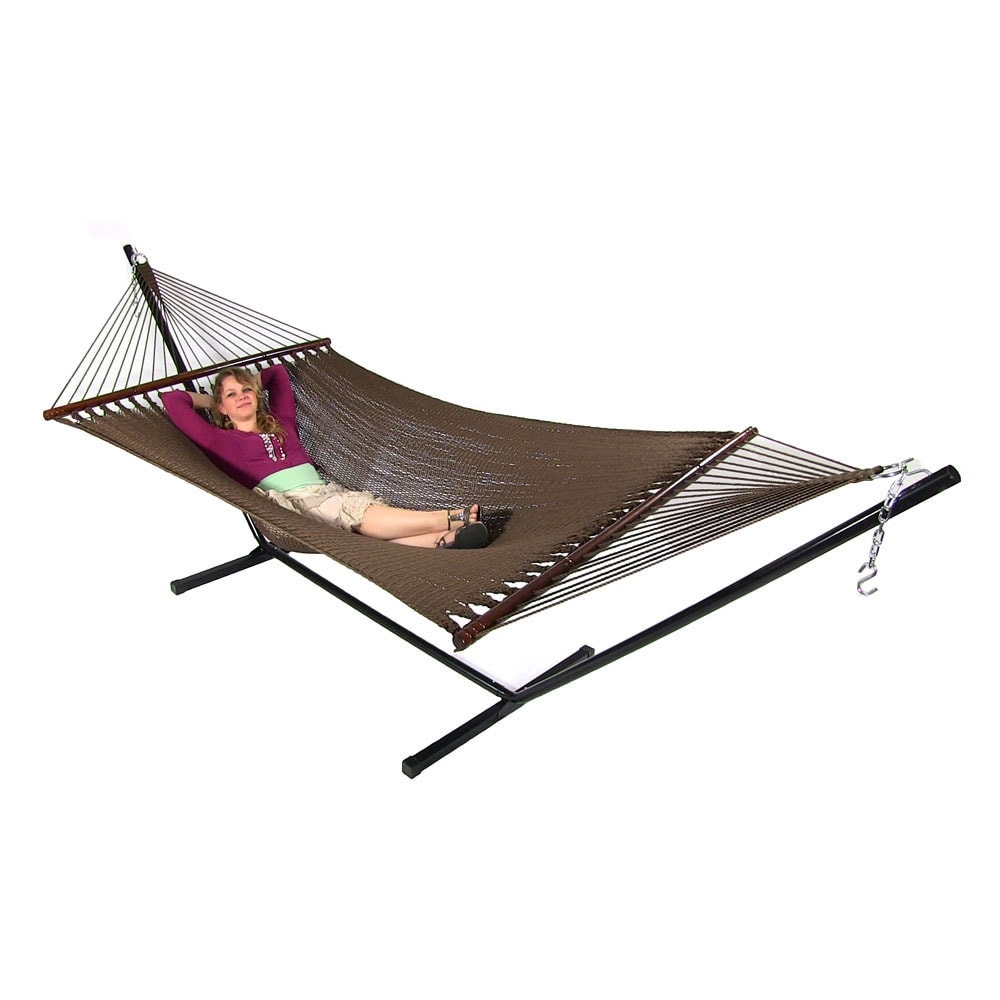 sunnydaze large 2 person rope hammock with spreader bar   free shipping today   overstock     19512418 sunnydaze large 2 person rope hammock with spreader bar   free      rh   overstock