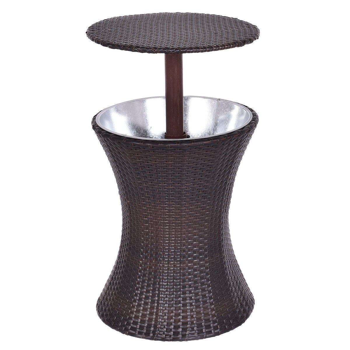 Charmant Shop Costway 1PC Adjustable Outdoor Patio Rattan Ice Cooler Cool Bar Table  Party Deck Pool   Brown   Free Shipping Today   Overstock.com   16689652