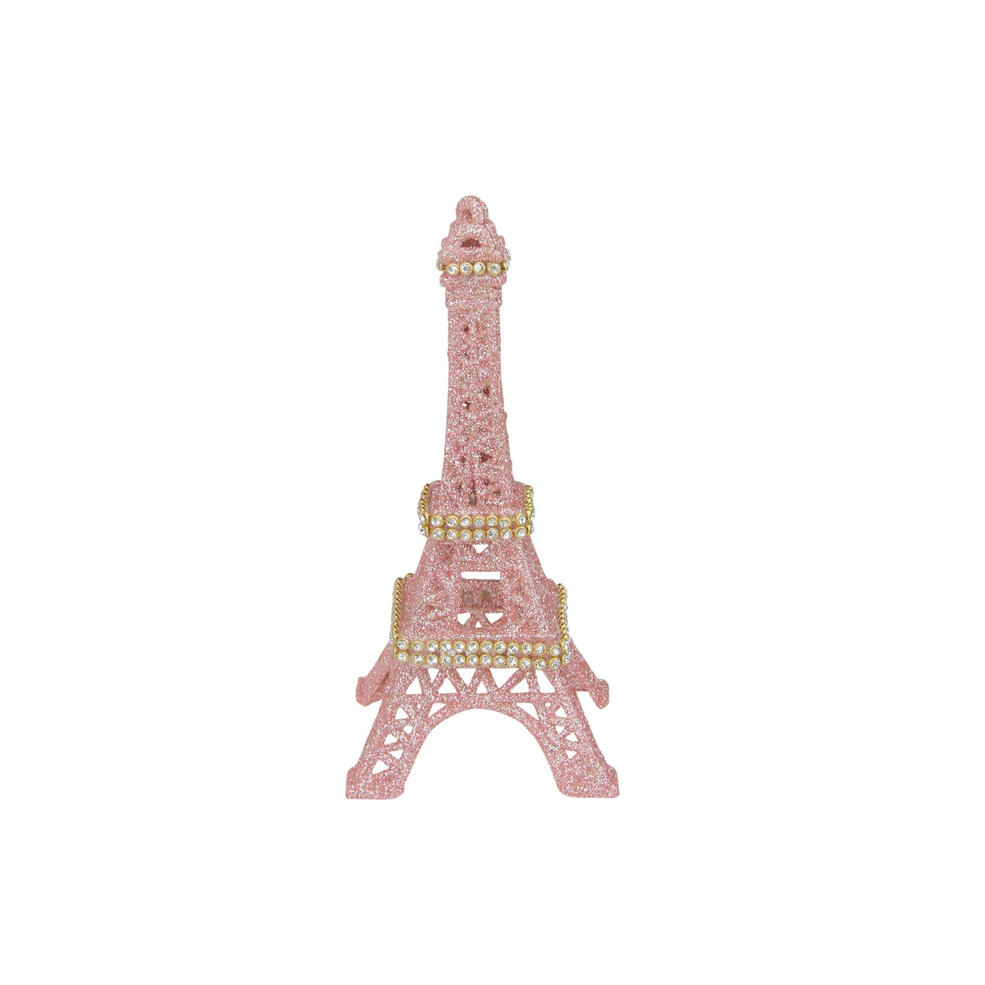 "Shop 5.5"" Rose Gold Glitter Eiffel Tower Christmas Ornament - N/A - Free Shipping On Orders Over $45 - Overstock - 25634033"