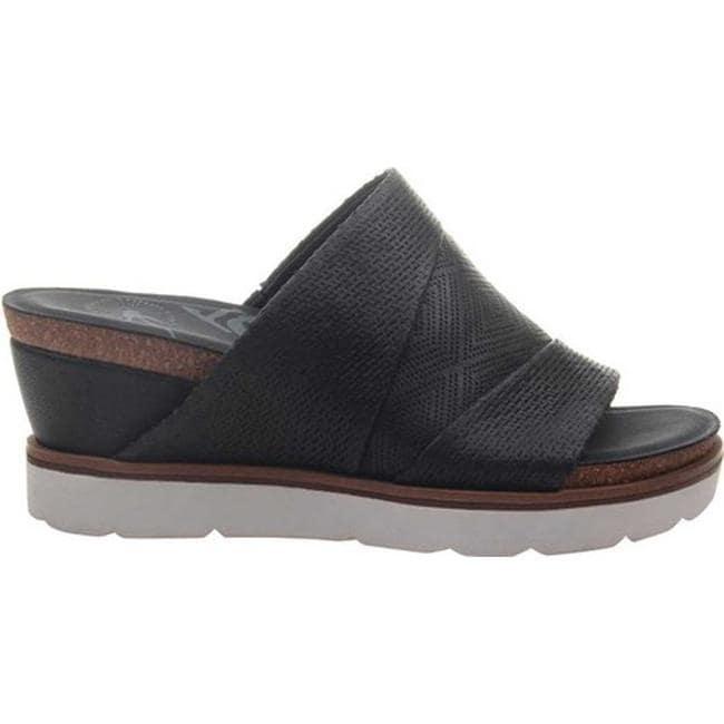 6fd57aad7d5 Shop OTBT Women s Earthshine Wedge Slide Black Perforated Leather ...