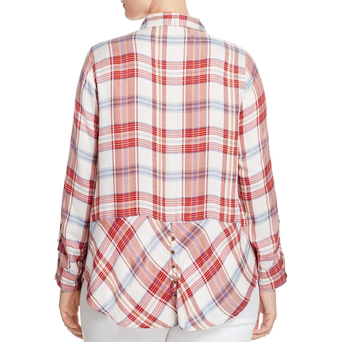 e7896499d8133 Shop Lucky Brand Womens Plus Bungalow Button-Down Top Plaid Long Sleeves -  Free Shipping On Orders Over  45 - Overstock.com - 17008551