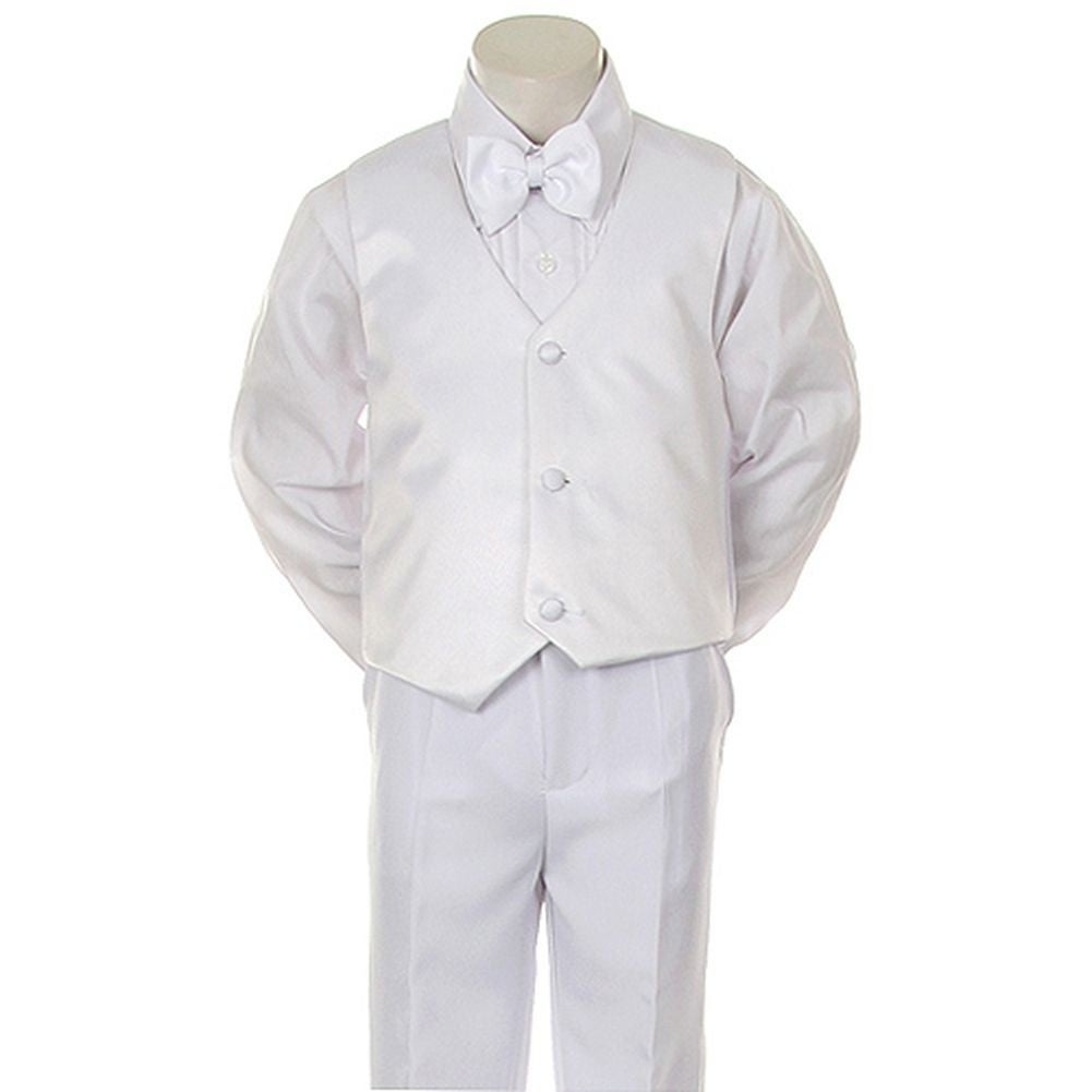0e640e899 Shop Angels Garment Toddler Little Boys White Classic Tuxedo 5 Pc Set 6M-20  - Free Shipping Today - Overstock - 18121094