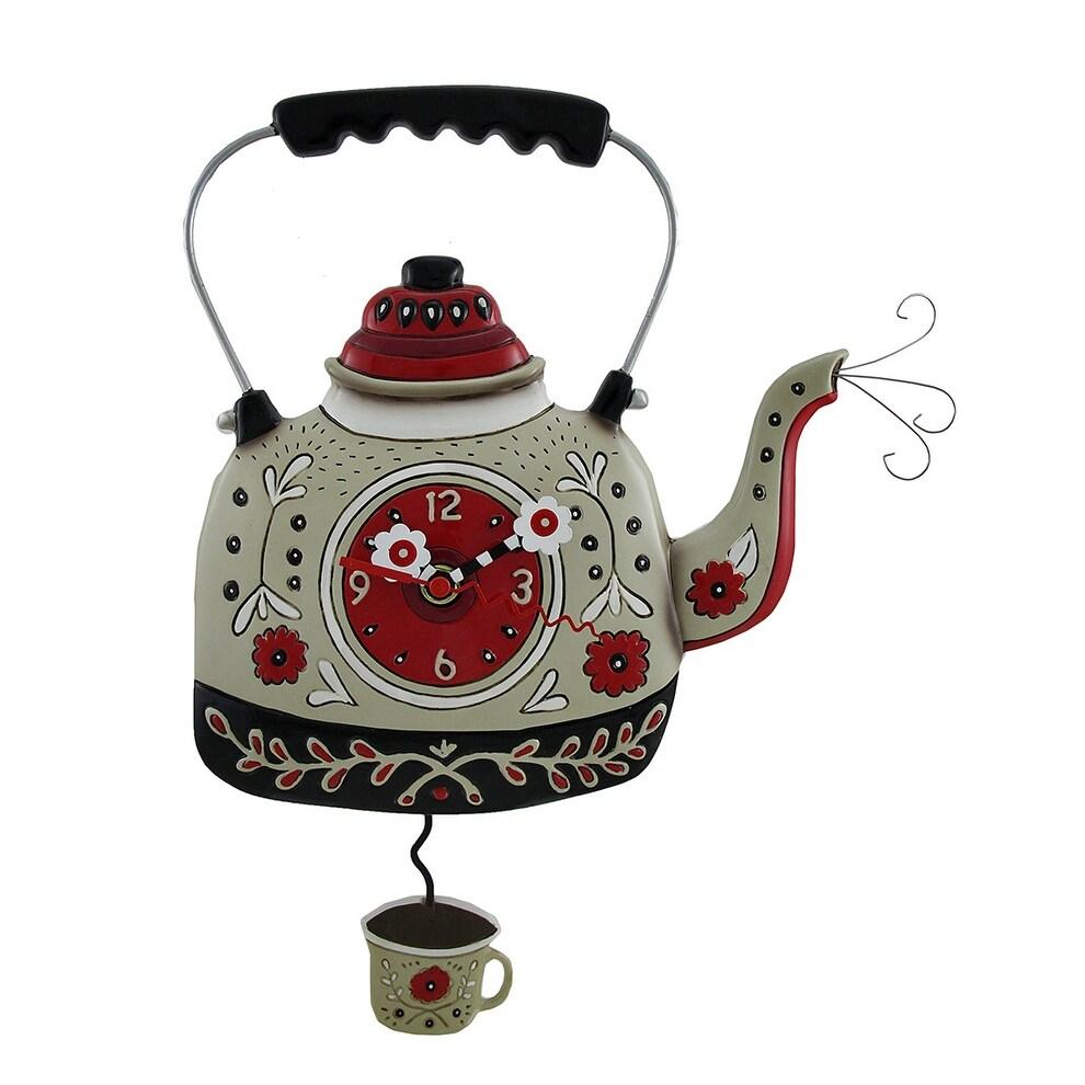 Shop Allen Designs Kettles On Decorative Tea Pot Wall Clock Free