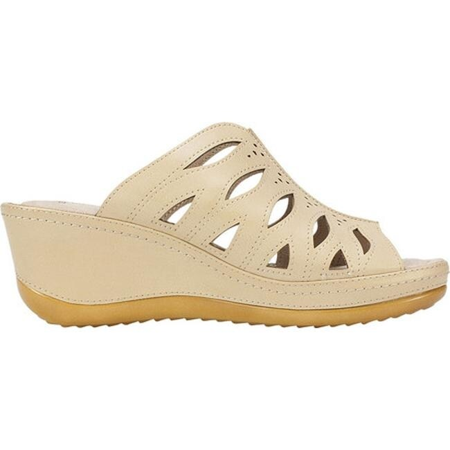 dfb1016155f Shop Cliffs by White Mountain Women s Farryn Wedge Sandal Sand Burnished  Smooth Polyurethane - Free Shipping Today - Overstock - 20268764