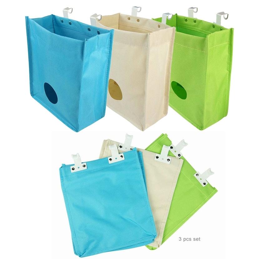 Javoedge 3 Pack Plastic Bag Holder And Dispenser Builtin Hanging