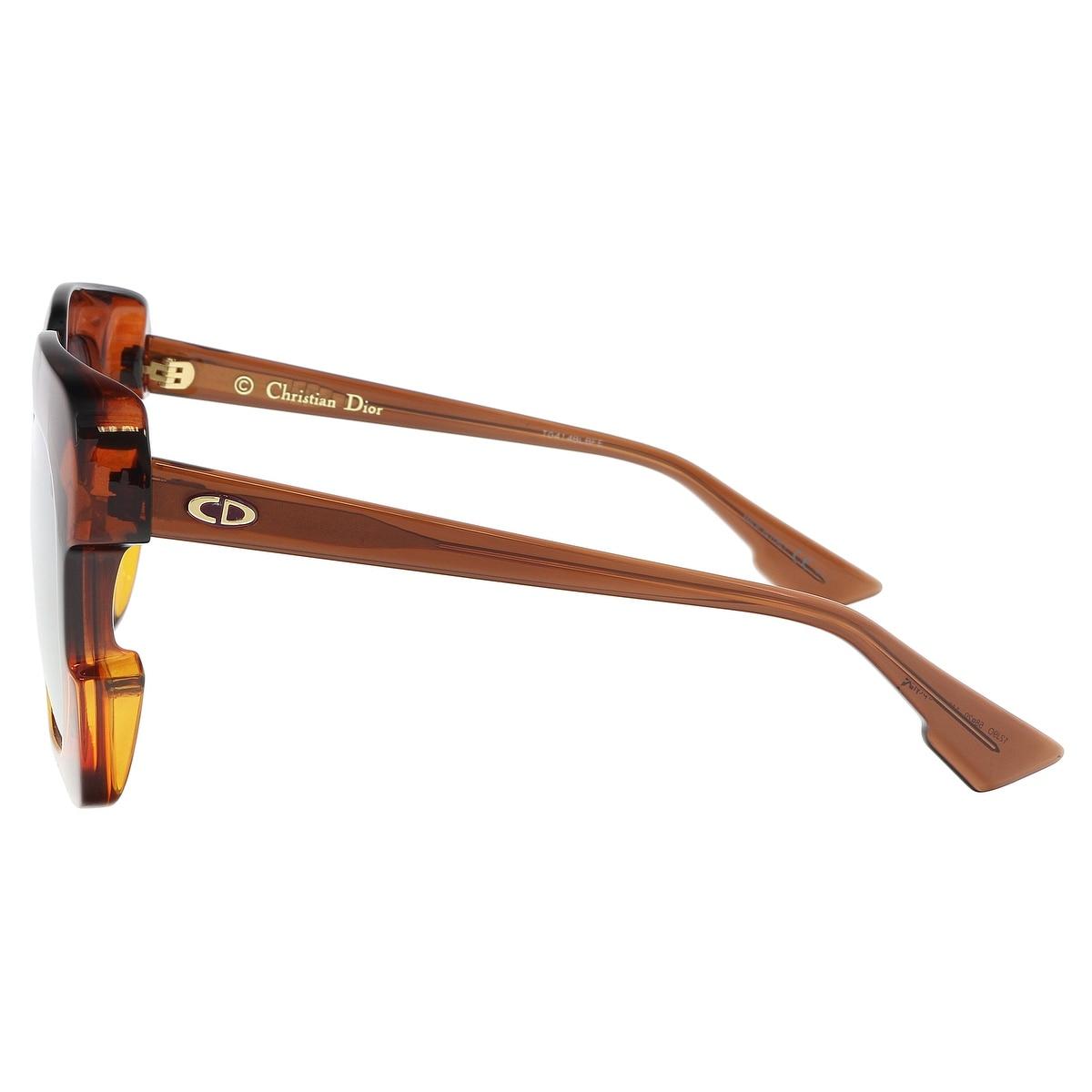 5b710d0981 Shop Christian Dior DIORGAIA 012J Brown Orange Square Sunglasses -  58-20-140 - Free Shipping Today - Overstock - 21158412