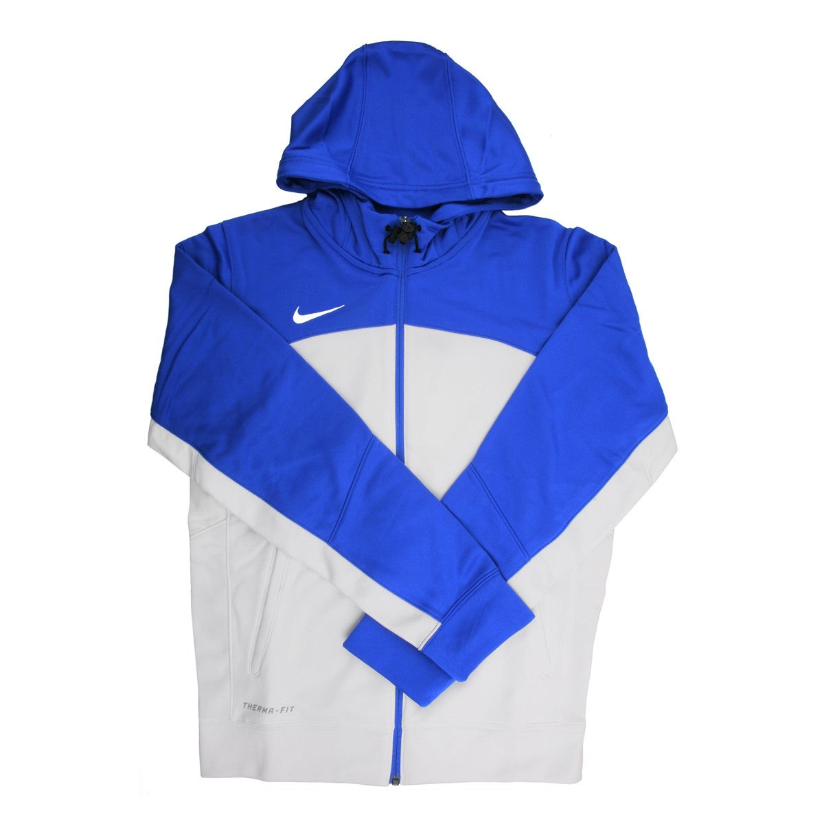 8b8e96145cee Shop Nike Therma-FIT Men s White Blue Full Zip Training Hoodie - Small -  Free Shipping Today - Overstock - 21293960