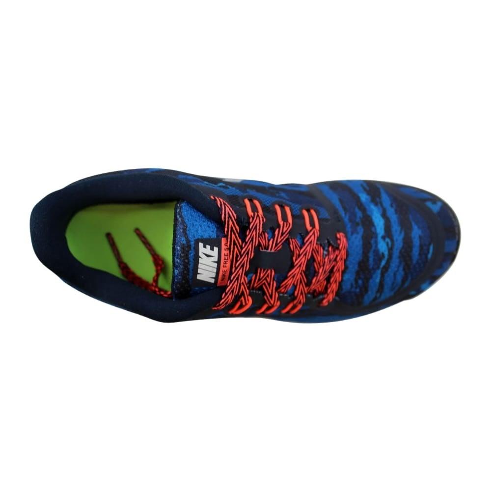 online store 72891 89d62 Nike Grade-School Free 5.0 Print Dark Obsidian/Lava 749681-400 Size 6