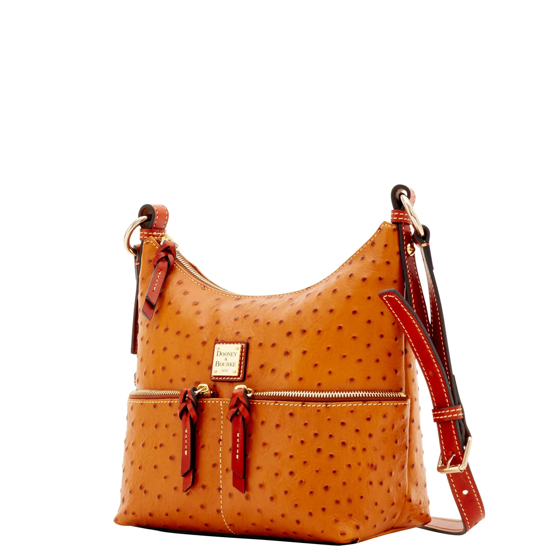 Shop Dooney   Bourke Ostrich Small Pocket Zipper Crossbody Shoulder ... aab72bc5e1