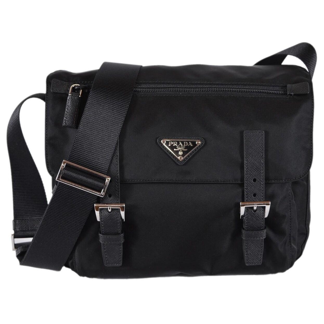 a03125e77a08 Prada 1BD953 Pattina Black Tessuto Nylon Messenger Bag Crossbody Purse. by  Prada