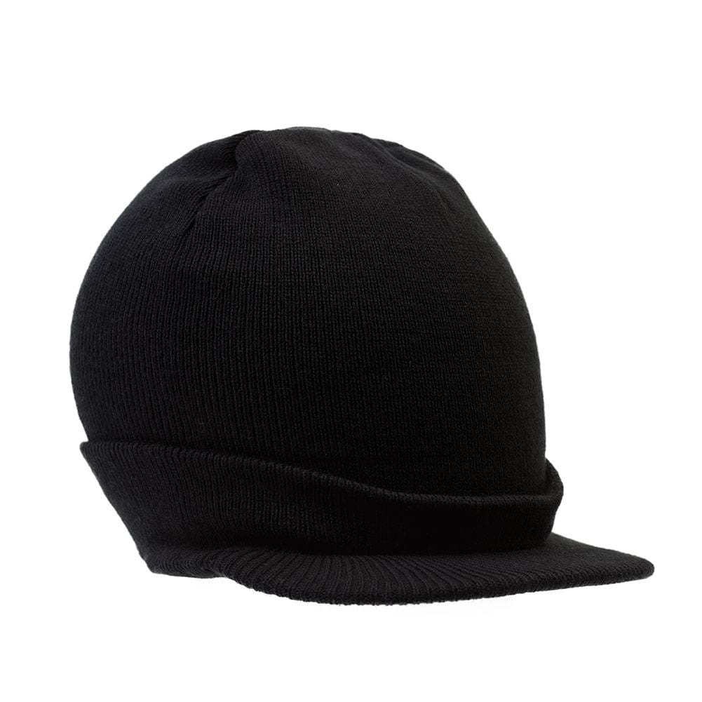 43f474a1ab4 Shop Beanie Hat with Bill Knit Cap - Black - Free Shipping On Orders Over   45 - Overstock.com - 16947919