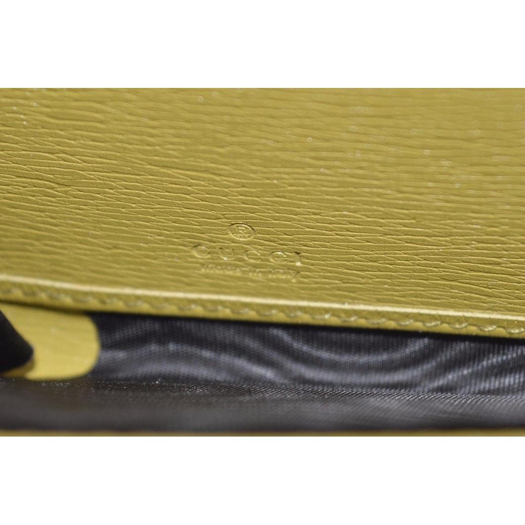 d5ce19aaf2ba Shop Gucci Women's 309705 Yellow Betty Heart GG Zip Around Leather Clutch  Wallet - 7.75