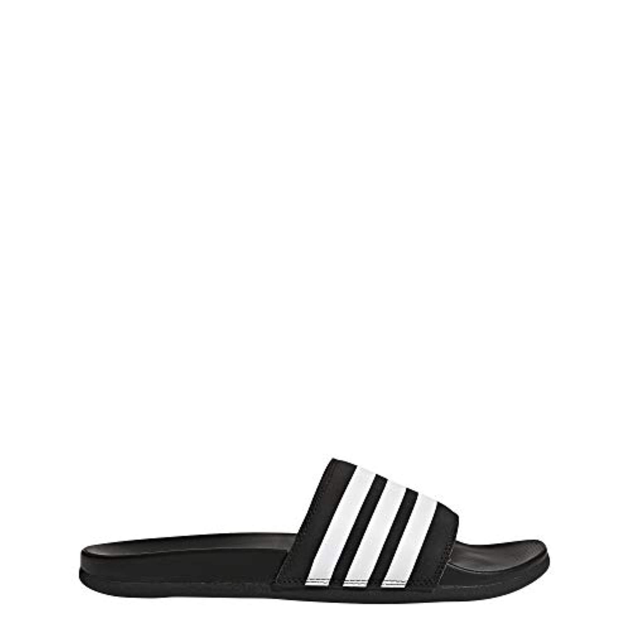 2bd06323f524 Shop Adidas Men s Adilette Comfort Slide Sandal White Black - Free Shipping  Today - Overstock - 27122488