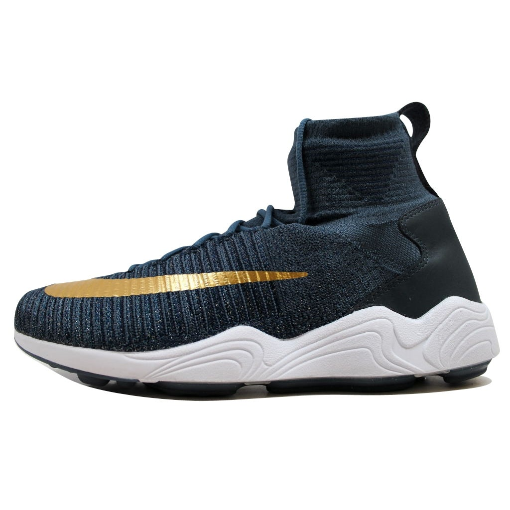 6e05d4875eb Shop Nike Men s Zoom Mercurial XI Flyknit FC Blue Fox Metallic Gold Coin  852616-400 Size 10 - Free Shipping Today - Overstock - 19508145