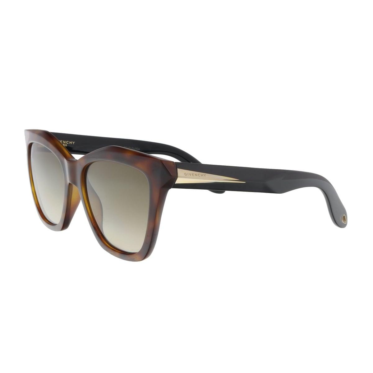 a59e6cee0beb Shop Givenchy GV7008S 0QON Havana Black Square Sunglasses - 53-17 ...