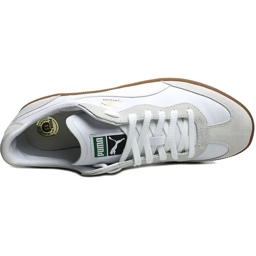 cc54495de95 Shop Puma Super Liga OG Retro Men Round Toe Leather White Sneakers - Ships  To Canada - Overstock - 13844568