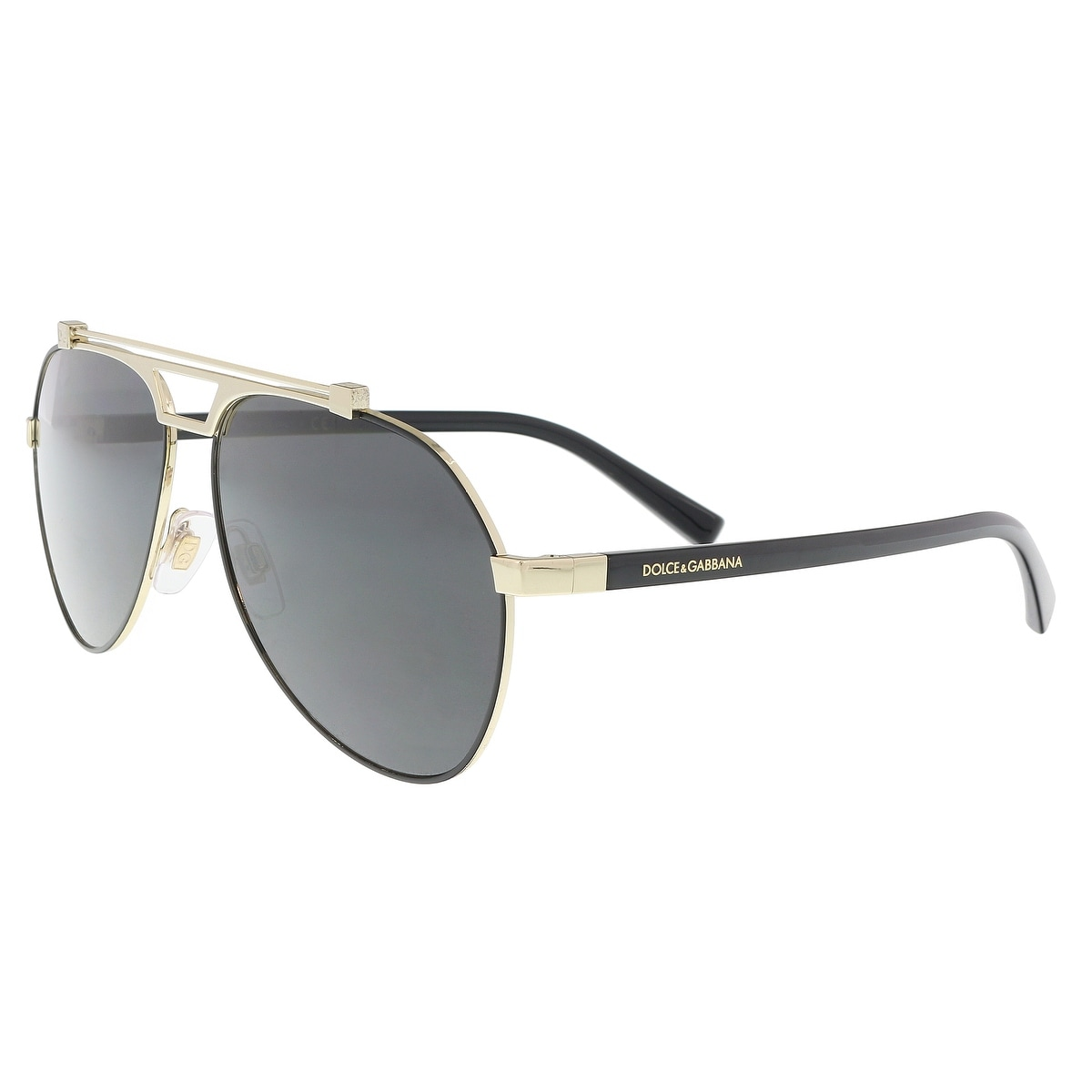 8a3daaf51672 Shop Dolce   Gabbana DG2189 01 87 Matte Black  Pale Gold Aviator Sunglasses  - 61-14-140 - Free Shipping Today - Overstock - 21158701
