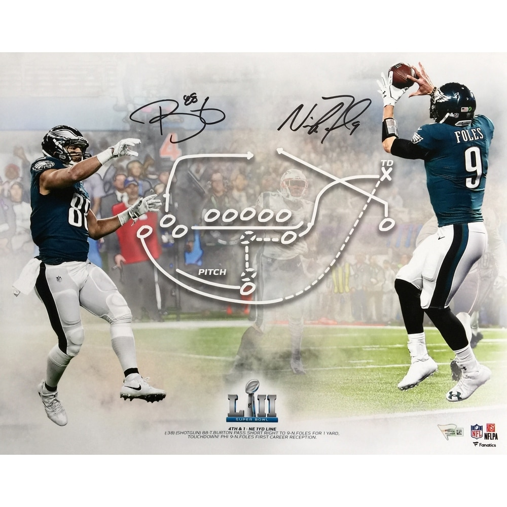 77fa6ce0d7b Shop Nick Foles Trey Burton Signed 16x20 SB 52 Philly Special Collage Photo  Fanatics - Free Shipping Today - Overstock - 22302293
