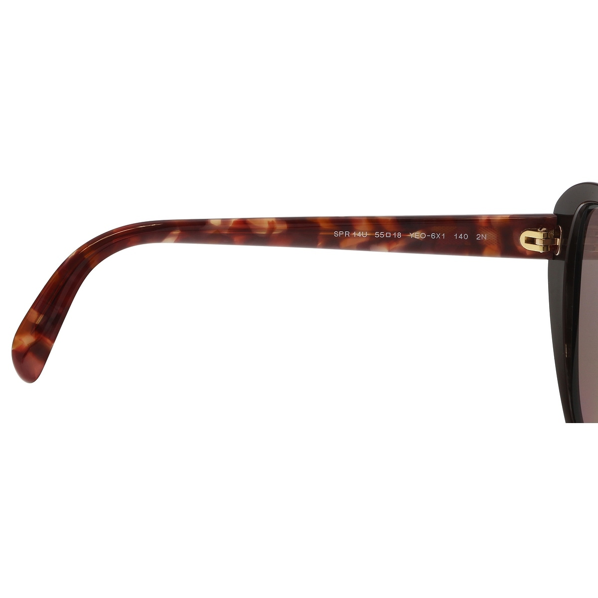 6cb59d4bd867 Shop Prada PR 14US YEO6X1 Brown Cat eye Sunglasses - 55-18-140 - Free  Shipping Today - Overstock - 21158299