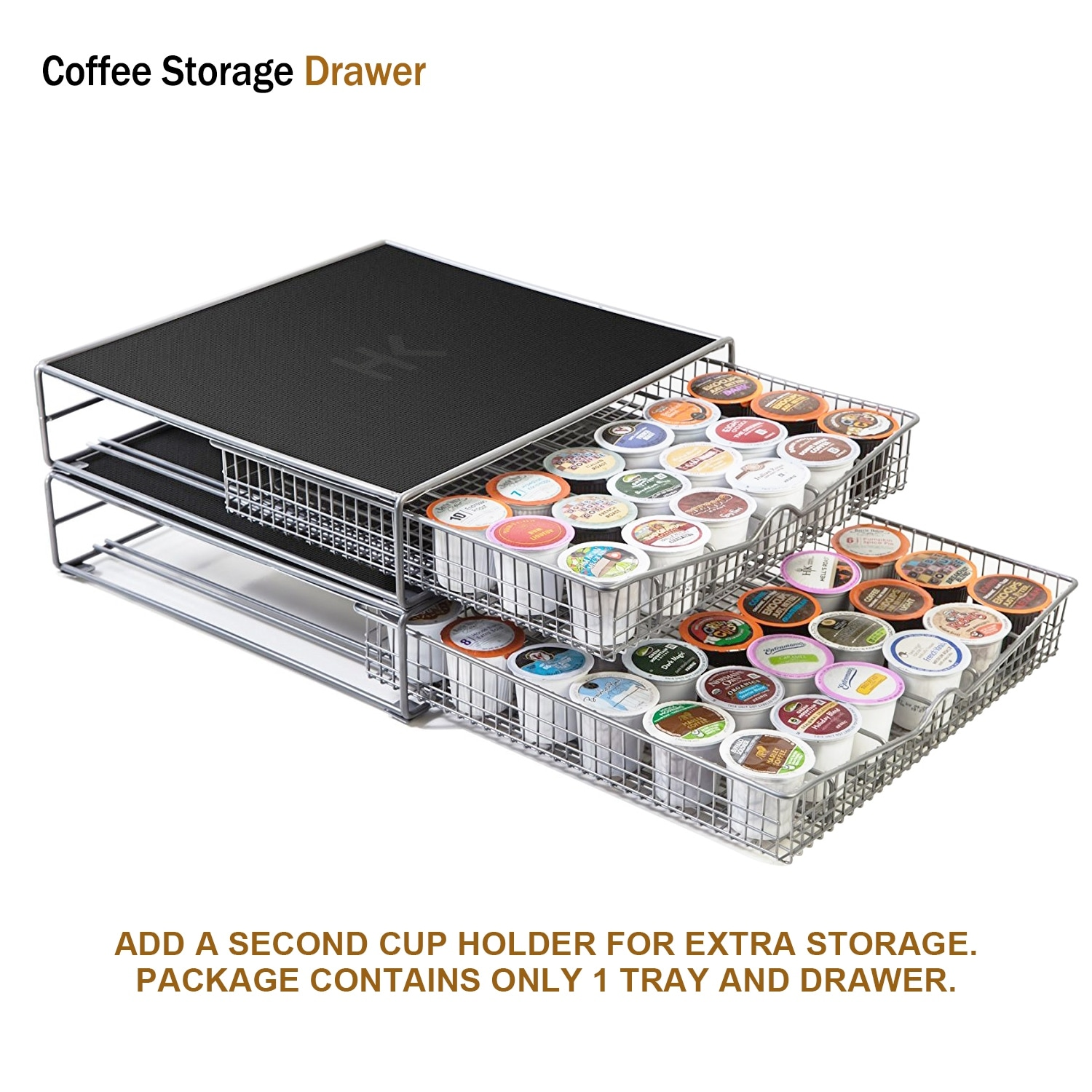 ... Hk Coffee Storage Drawer Holder Organizer W Rack Mat For Keurig  36kcuppods Tea Coffee Makers Free ...