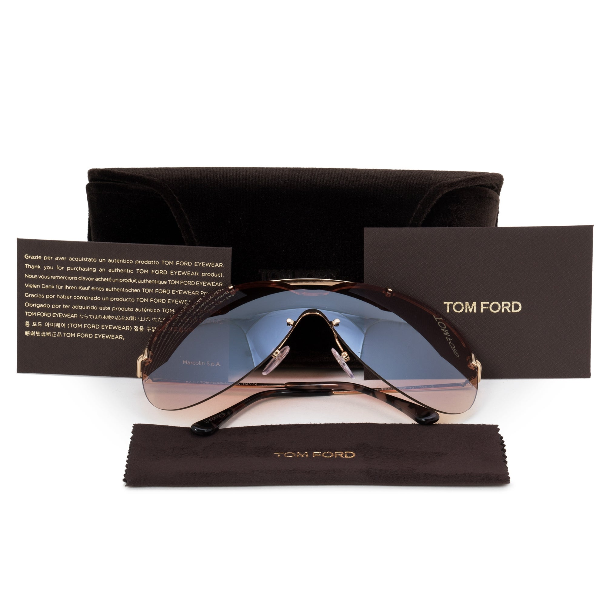03d51f1ecf Shop Tom Ford Ondria Rimless Sunglasses FT0519 28Z 0 - Free Shipping Today  - Overstock - 23138947