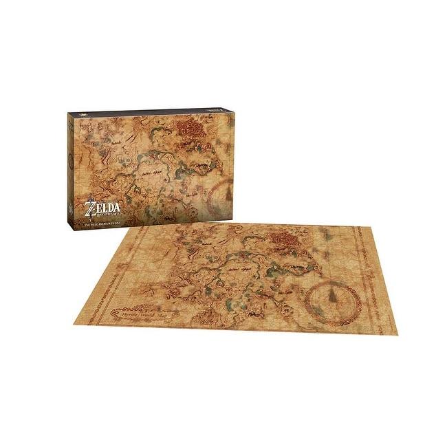 Zelda Breath Of The Wild Hyrule Map Premium Puzzle 750 Pieces Multi Overstock 21853920